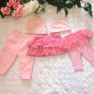 Baby Girl Hat, Skirt & Pants Bundle Size 3 Months